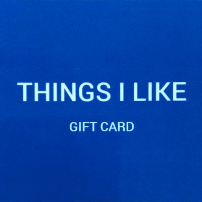 Things I Like Gift Card