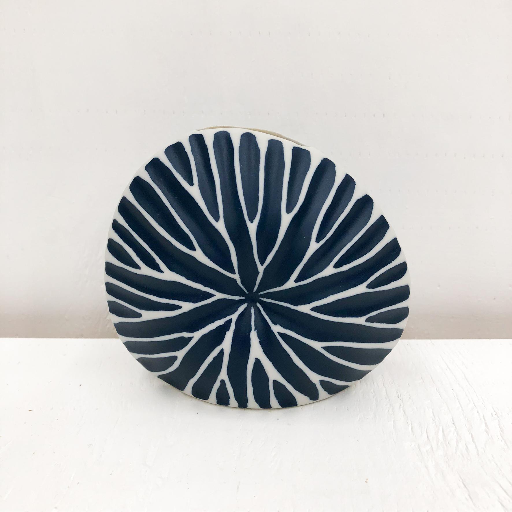 Diva Round Mini S Handmade Vase - Blue
