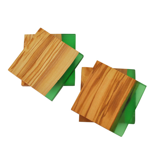 Square Coasters - in stacks of 2 - green