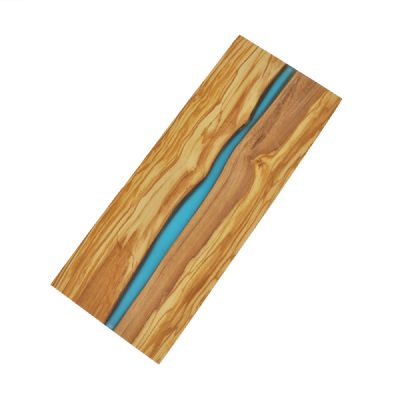 Cutting Boards with River of Blue Resin