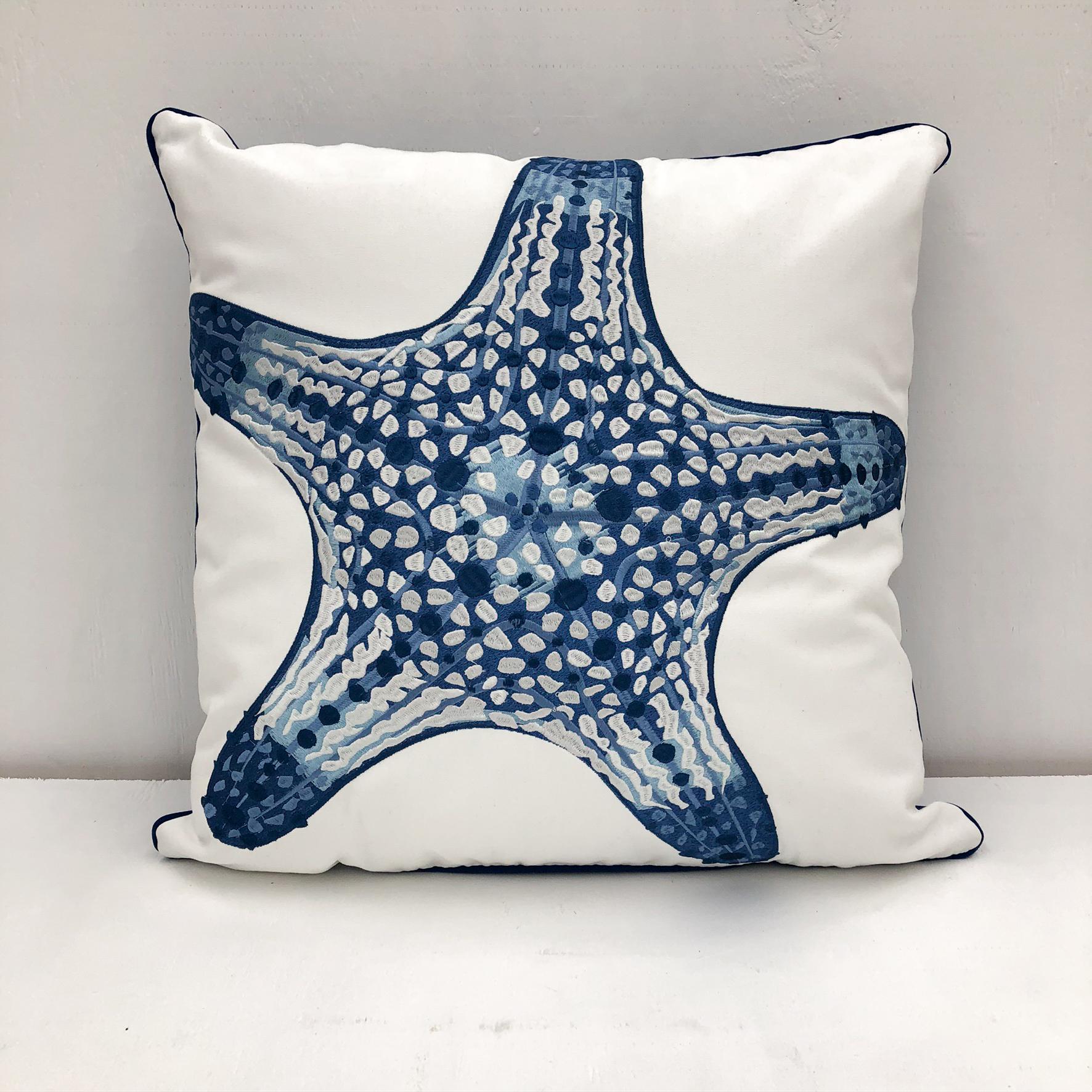 Sunbrella Starfish Pillow - Sunbrella - front view