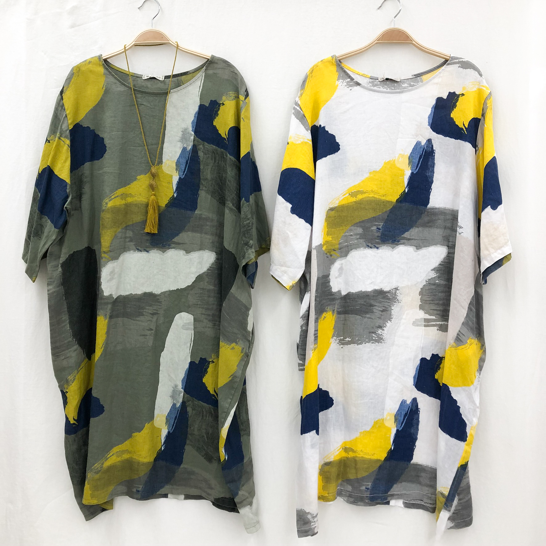 Two Different Colors - Color Splash Dresses on Hangers