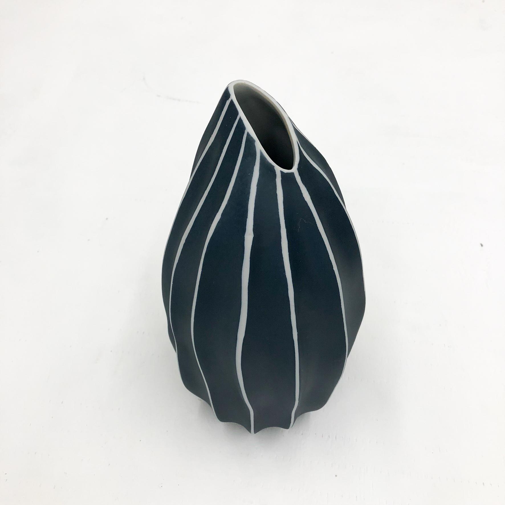 Seda S Handmade Vase - Navy - top view