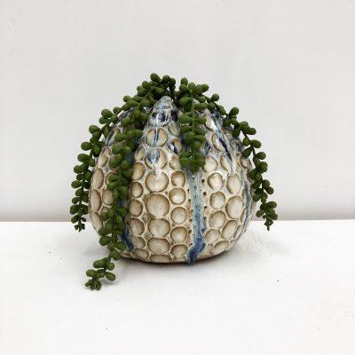Octopus Handmade Vase - Blue & White - Plant