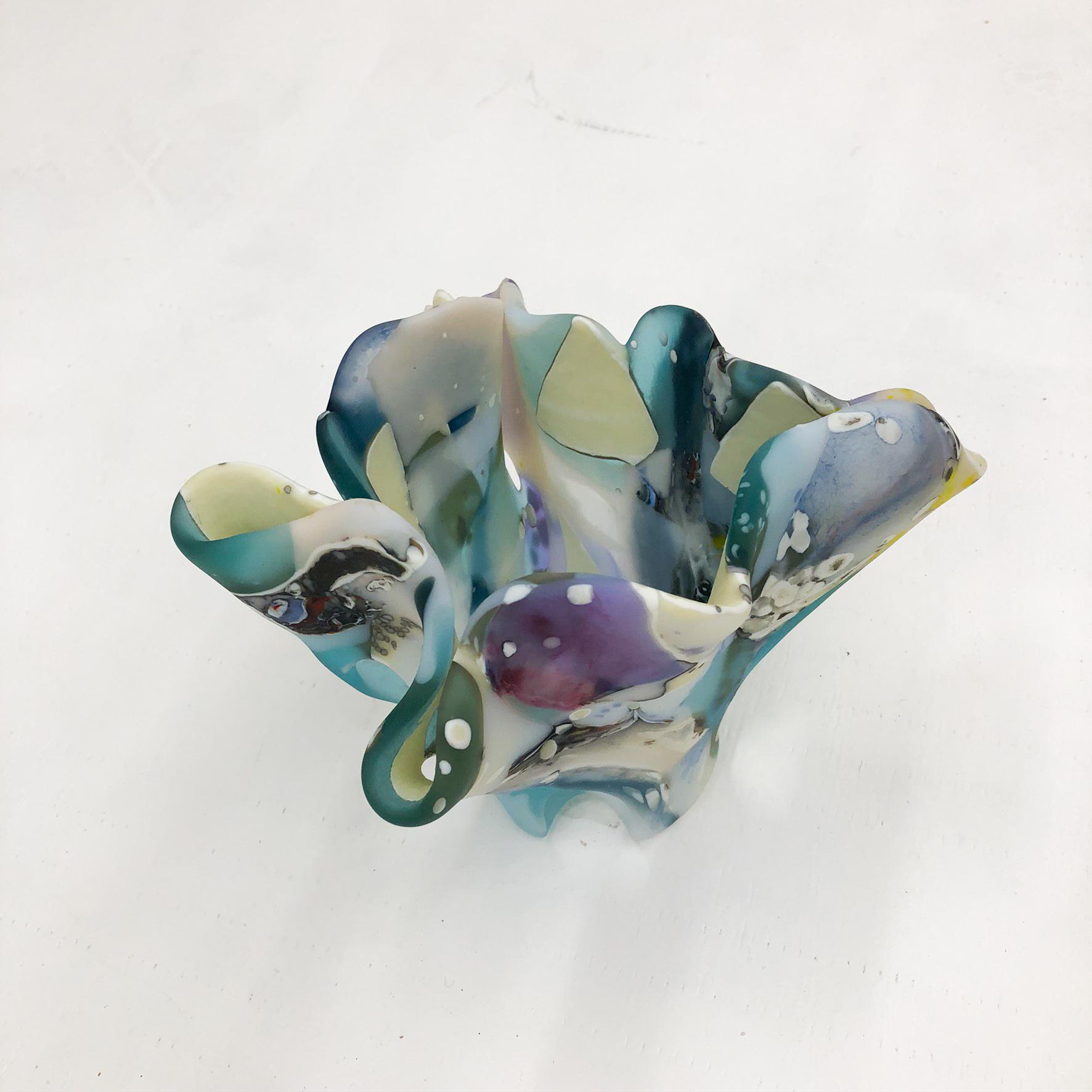 Handmade Sea Glass Vase Sculpture