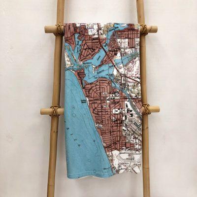 Venice Florida Blanket on a display ladder