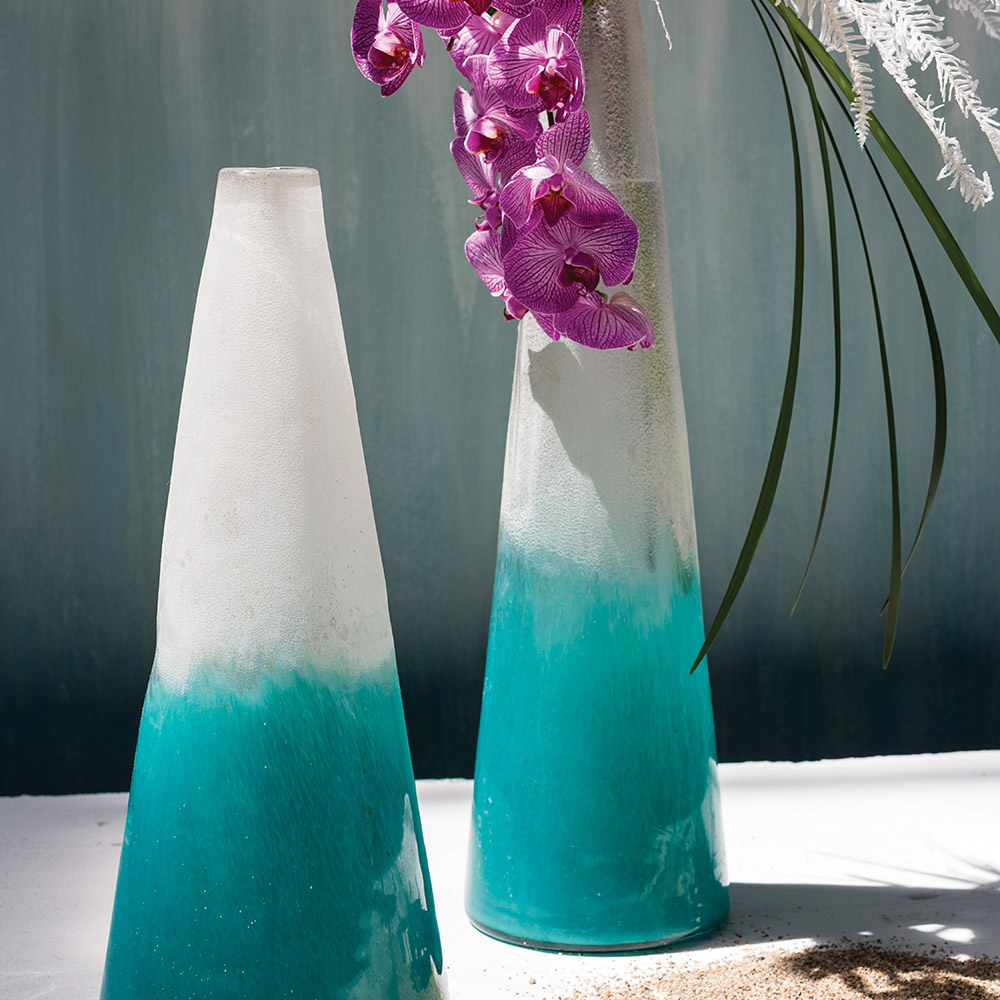 Legion Vase - both sizes with orchids