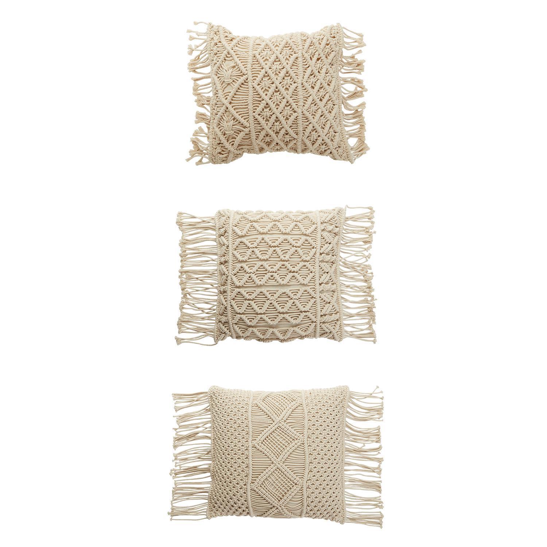 Three Macrame Pillows