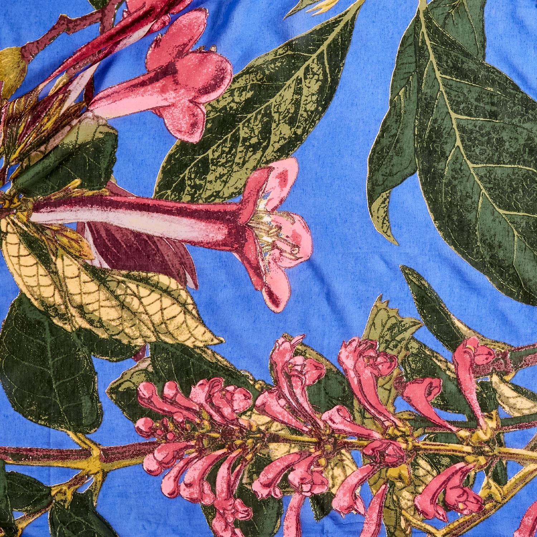 Purple Magnolia Kimono Fabric Pattern