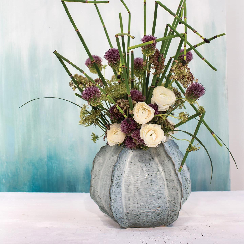 Atlas Vase Small with floral arrangement