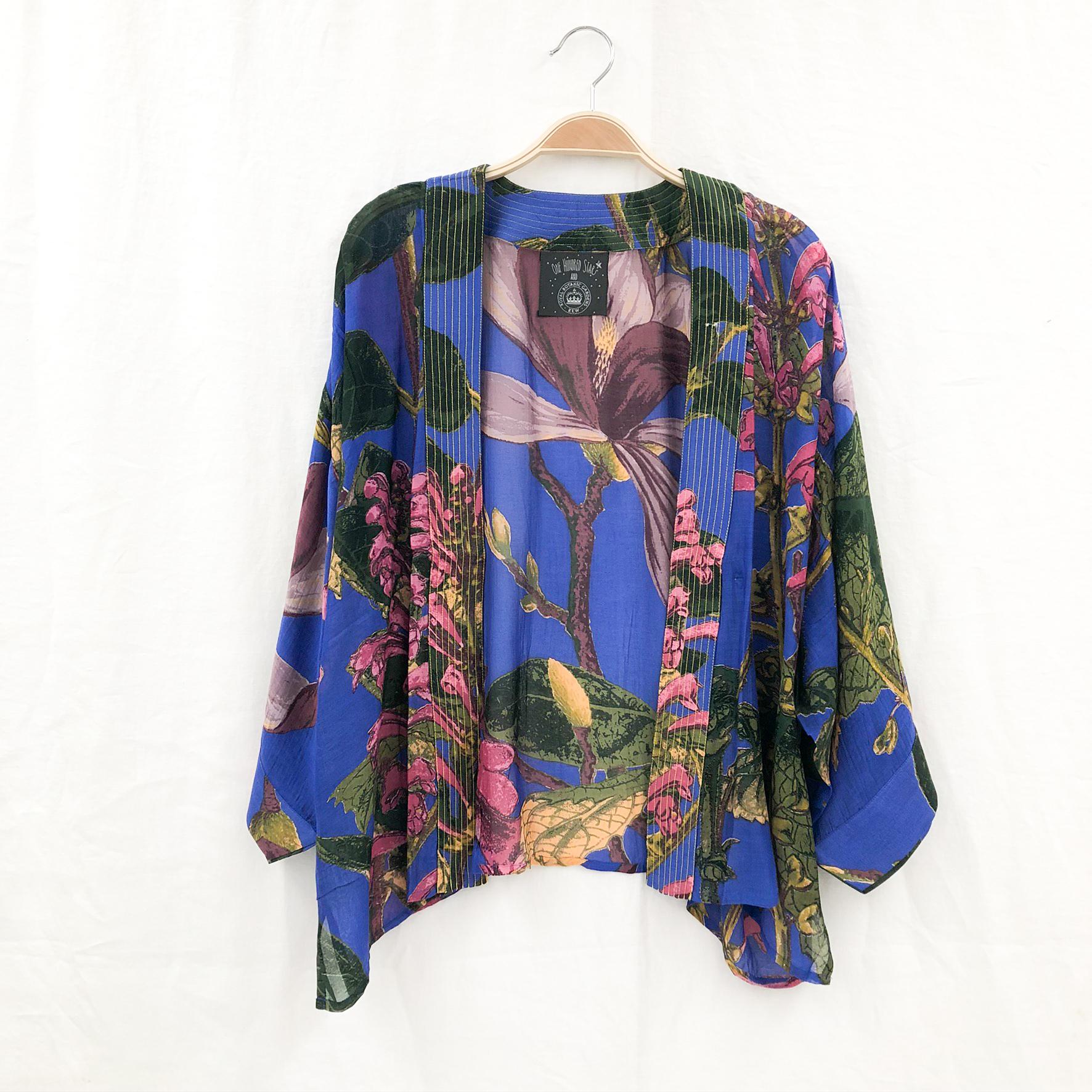 Purple Magnolia Kimono on Hanger