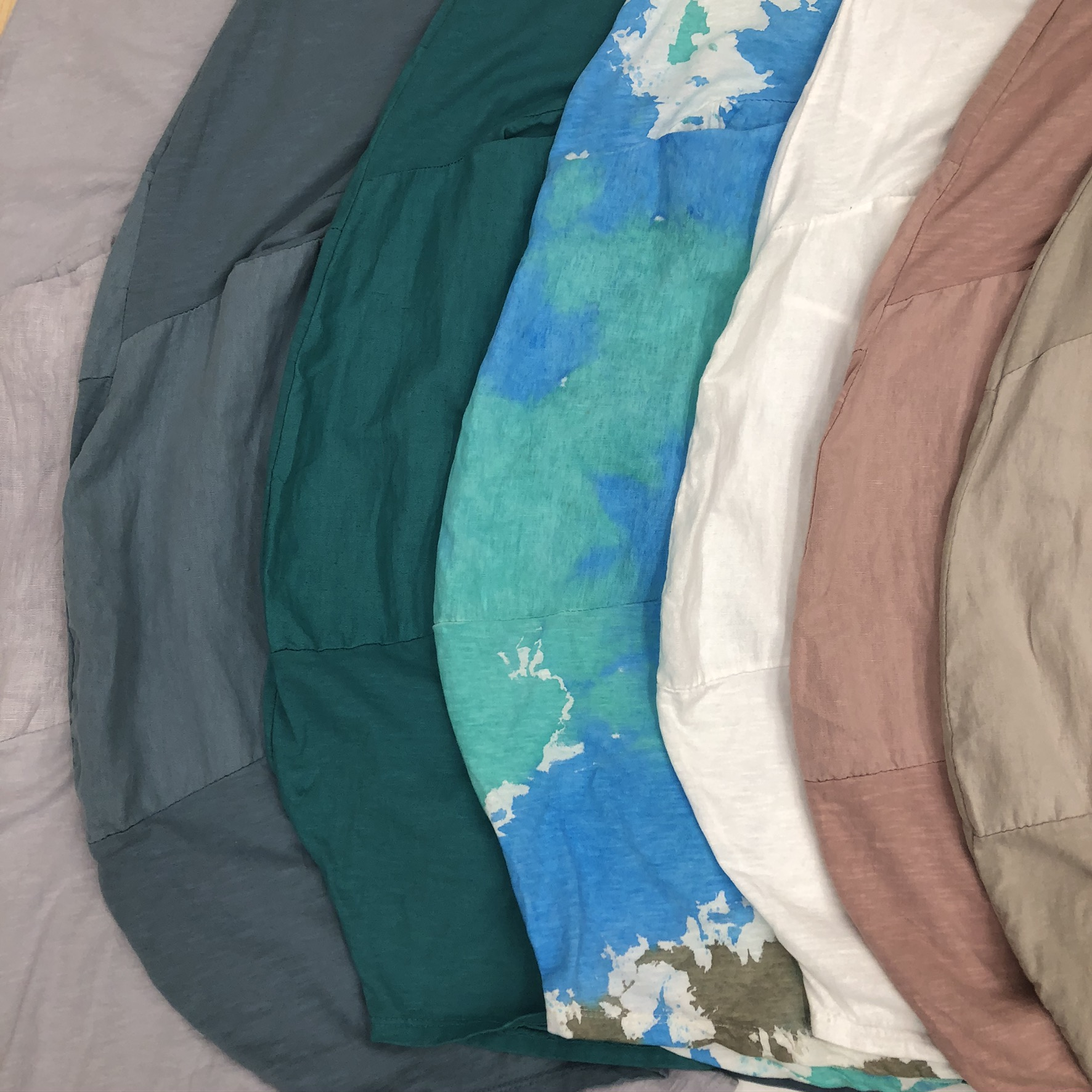 Short Two Pocket Dress Color Swatches