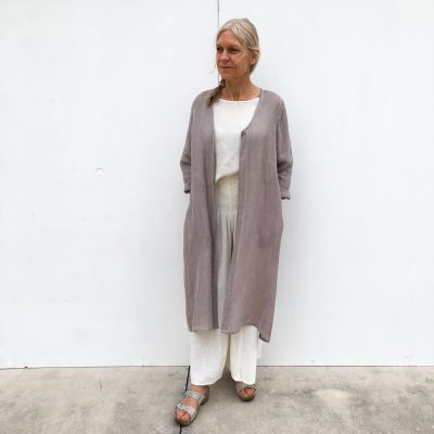 Linen Jacket - Light Dusty Rose