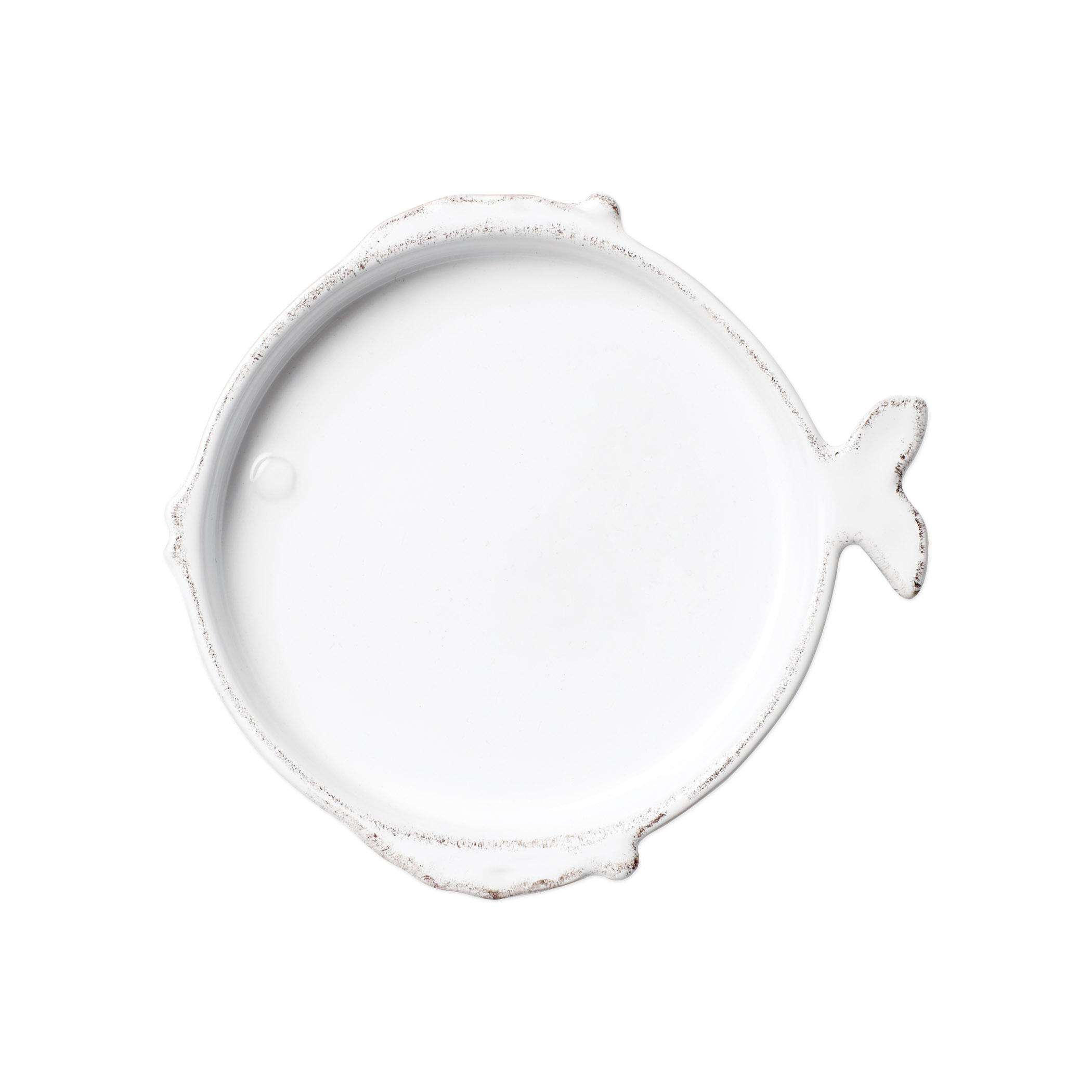 White Melamine Fish-shaped Salad Plate