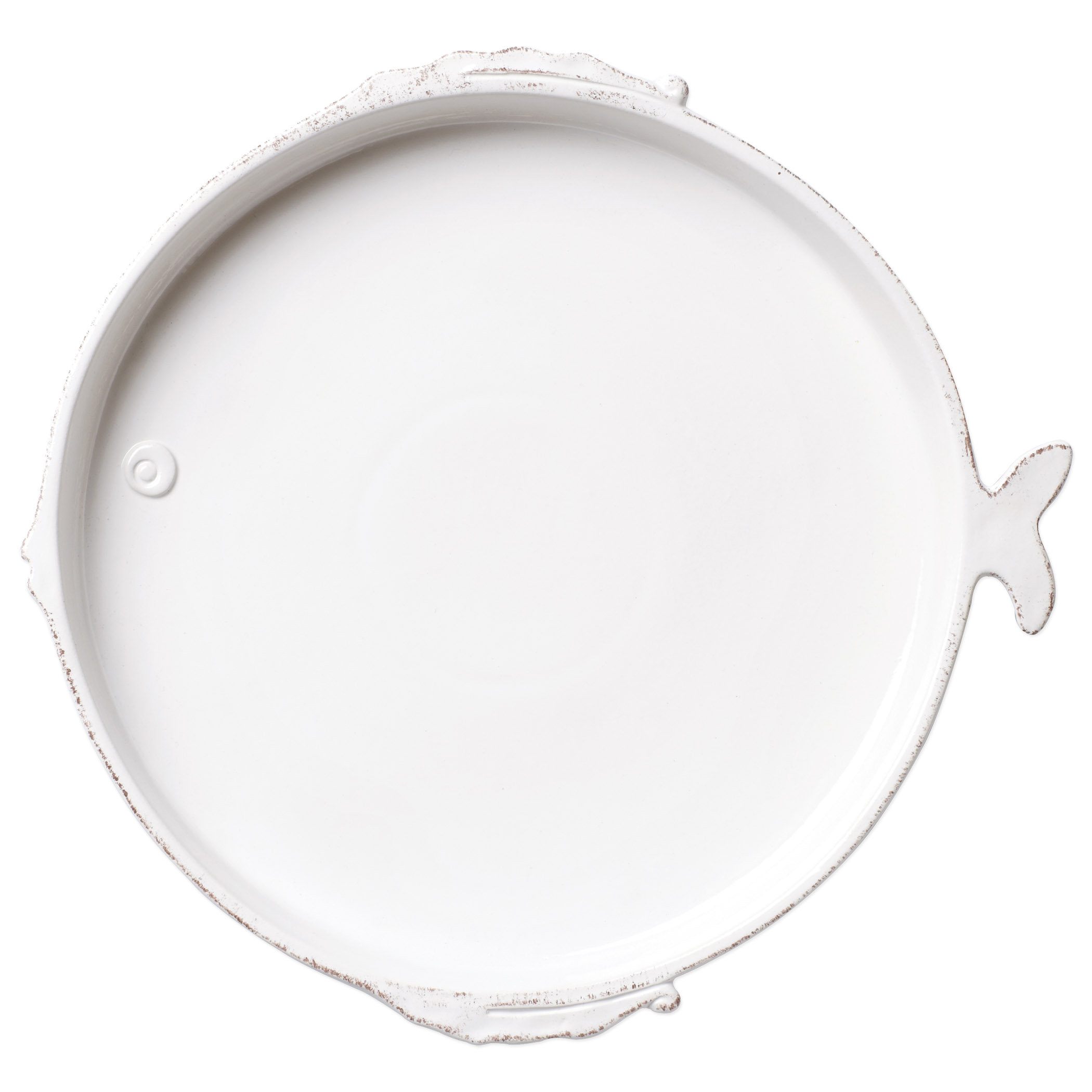 White Melamine Fish-shaped Dinner Plate