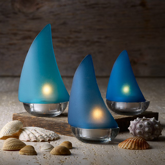 Regatta Candle Holders with shells