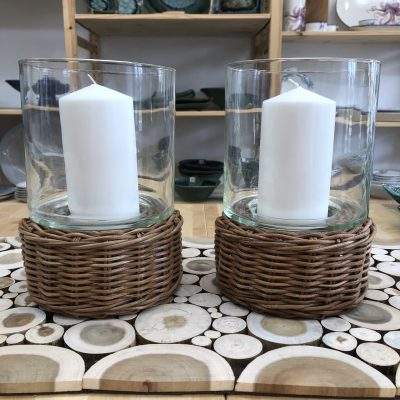 2 Candle Holders side by side